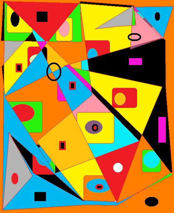 Espoir et liberte abstraction for Abstraction geometrique peinture
